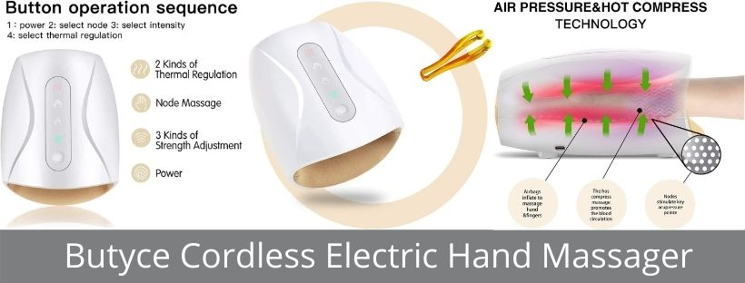 Butyce Cordless Electric Hand Massager