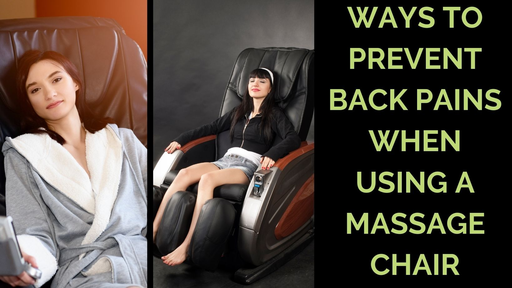 Back pain after massage chair