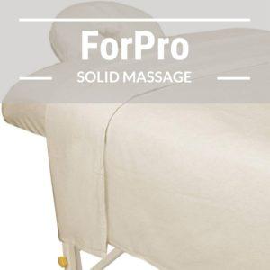 ForPro Premium Flannel 3-Piece Massage Sheet Set