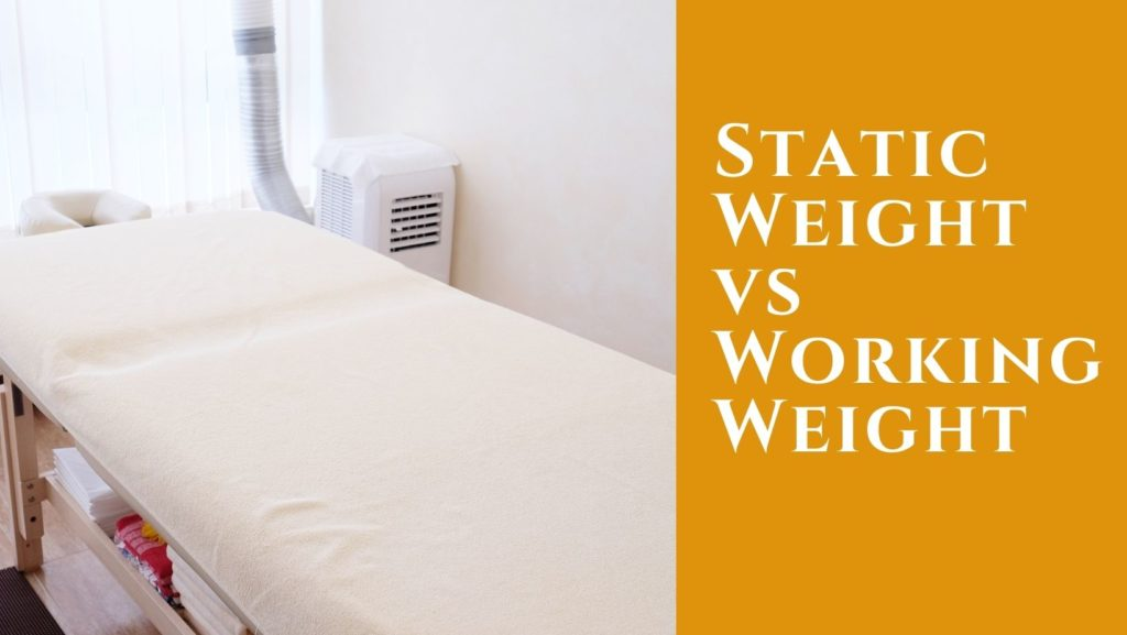 massage table weight limit